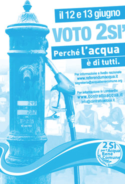 Acqua: occupiamoci del bene comune - il referendum | ilcantico.fratejacopa.net