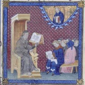 Lezione di un maestro francescano (Nicola di Lyra).