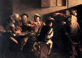 Caravaggio - La vocazione di S. Matteo.
