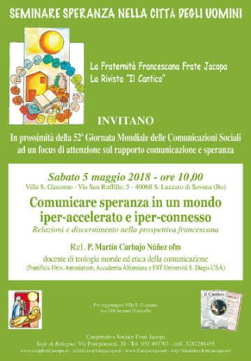 Locandina Bologna 5 maggio 2018